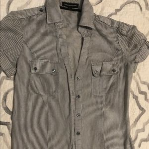 Express short sleeved, collared, button up!